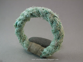 rope bracelet grommet bracelet massive soft bangle hemp whipping