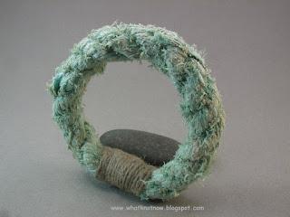 rope bracelet grommet bracelet massive soft bangle hemp whipping