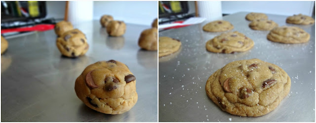 Nutella Stuffed, Brown Butter, Salted Chocolate Chip Cookies