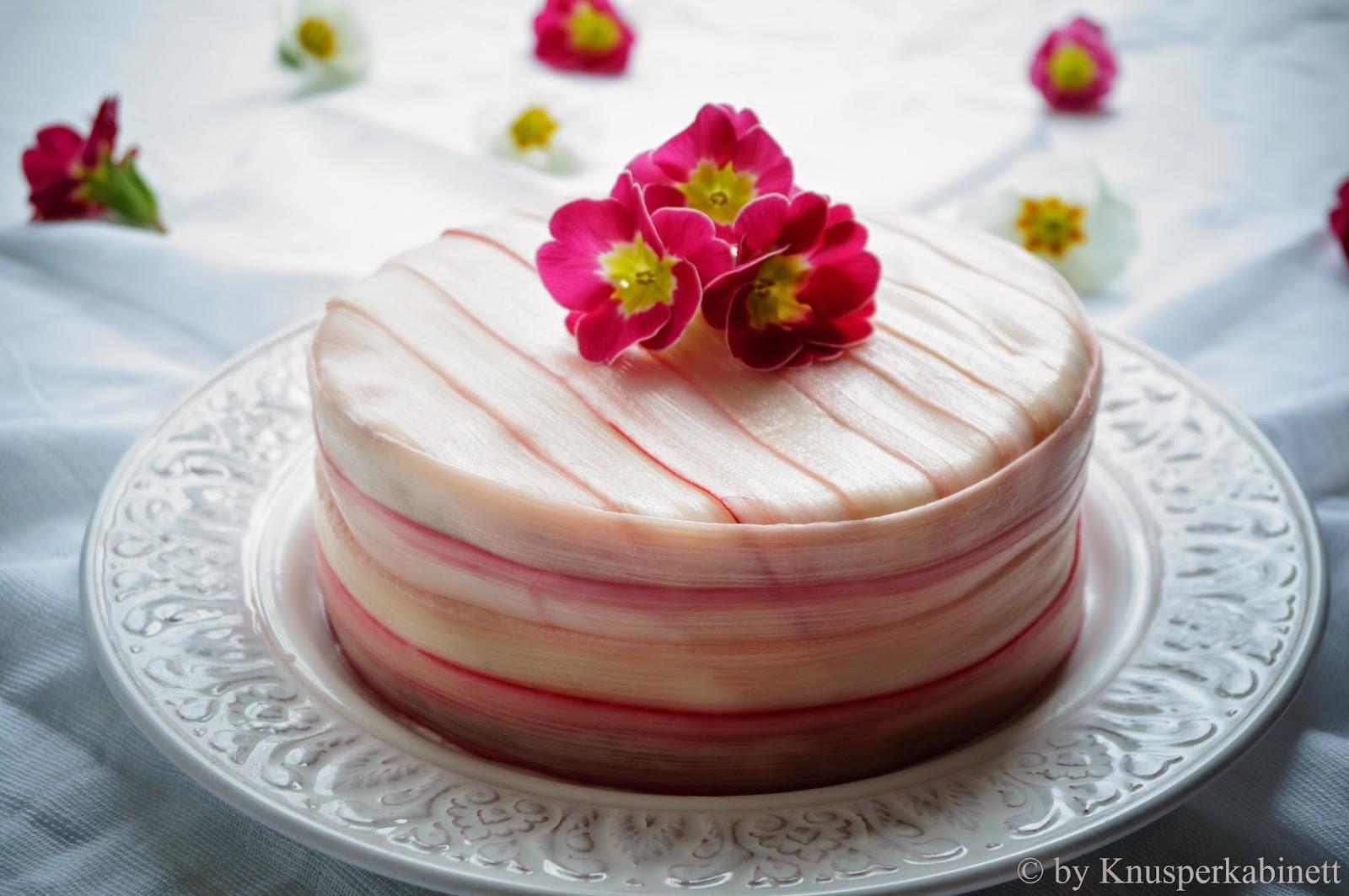 Knusperkabinett Rhabarber Champagner Torte Mit Vanillecreme Und