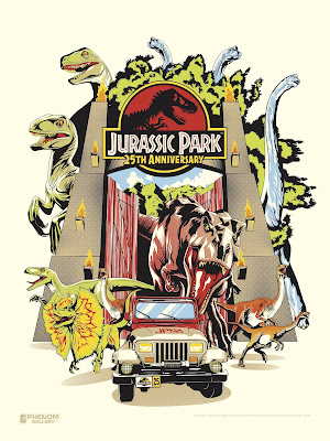 Jurassic Park 25th Anniversary Screen Print by M. Fitz x Phenom Gallery