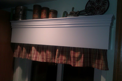Tracyp Creates Kitchen Update Wooden Valance