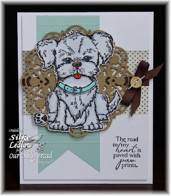 Our Daily Bread Designs Stamp set: You are Pawsome, Our Daily Bread Designs Custom Dies: Puppy, Doily, Our Daily Bread Designs Vintage Ephemera Paper Collection