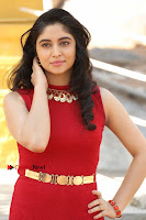 Telugu Actress Zahida Sam Latest Pos in Red Gown at RF Films New Movie Opening  0031.JPG