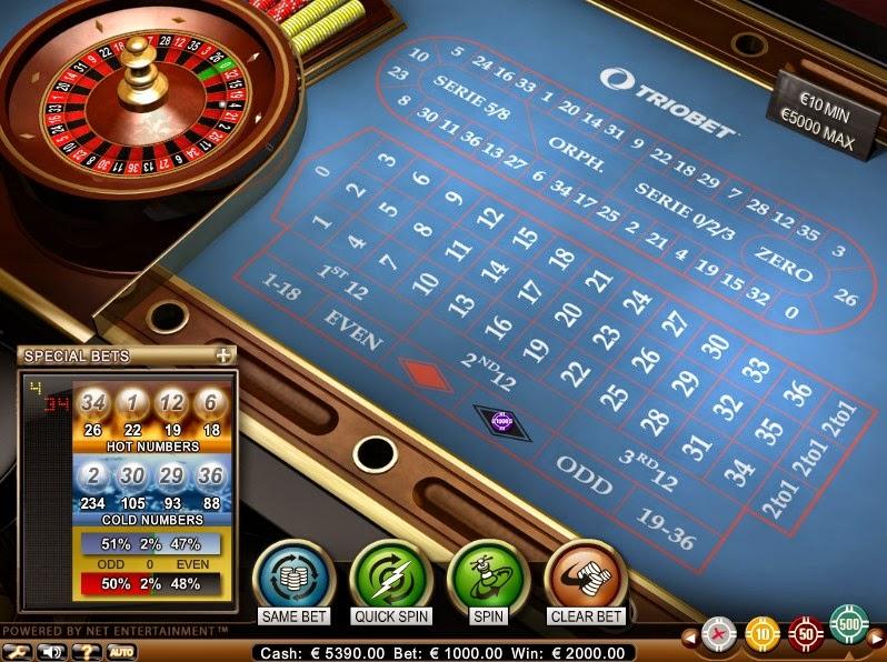 Triobet Roulette Screen
