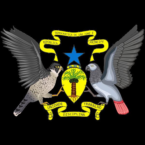 Logo Gambar Lambang Simbol Negara São Tomé dan Príncipe PNG JPG ukuran 600 px