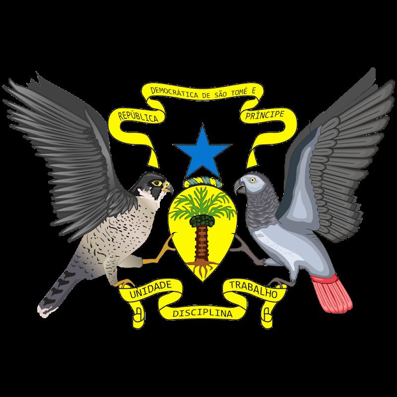 Logo Gambar Lambang Simbol Negara São Tomé dan Príncipe PNG JPG ukuran 800 px