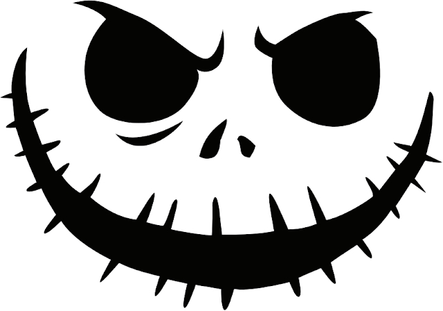 Free printable jack skellington pumpkin carving stencil templates download