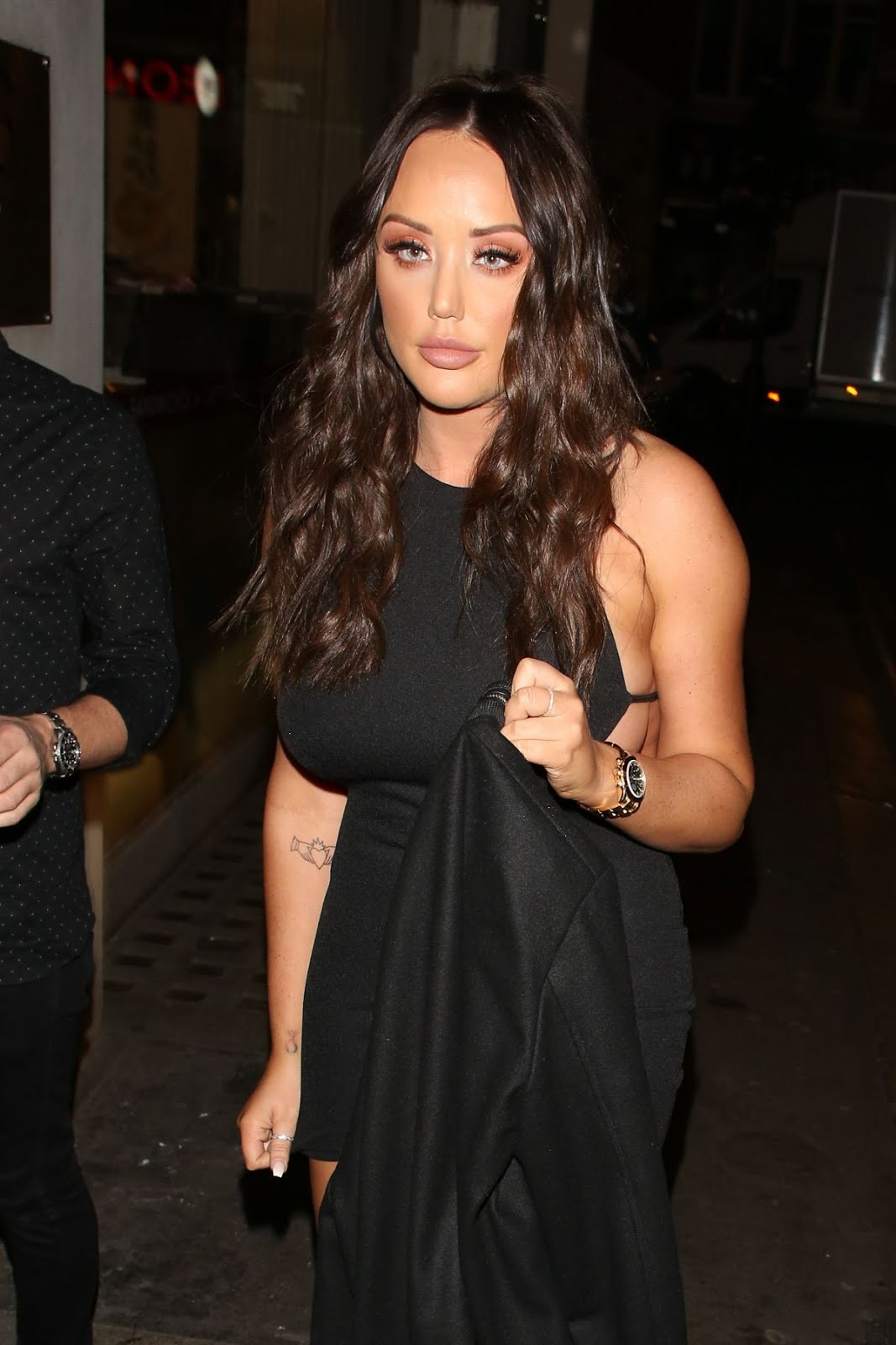 Charlotte Crosby Arrives At Valentines Party At Libertine Nightclub In London