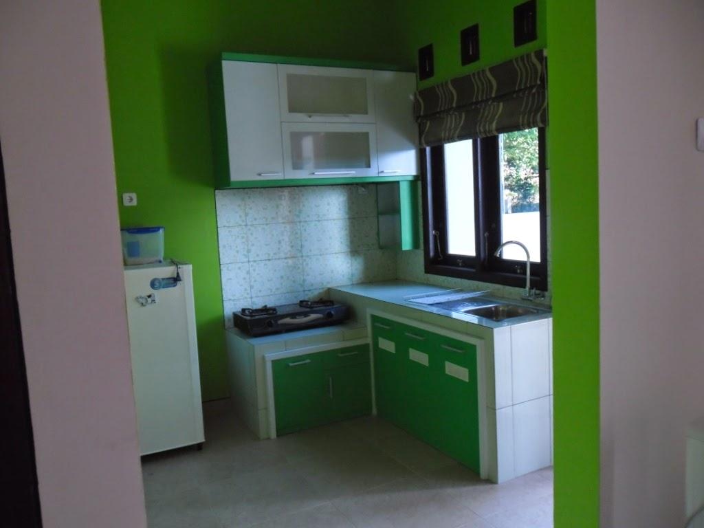 Desain Dapur Serba Hijau Interior Rumah