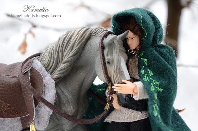 Jeździec i koń w skali 1:12.