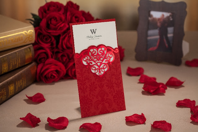 Red laser cut wedding card printing kuala lumpur, malaysia, elegant, special, unique, imported, chinese, pocket, pearl, insert, selangor, singapore, penang, melaka, ipoh, perak, bentong, pahang, kedah, kelantan, johor bahru, melaka, design