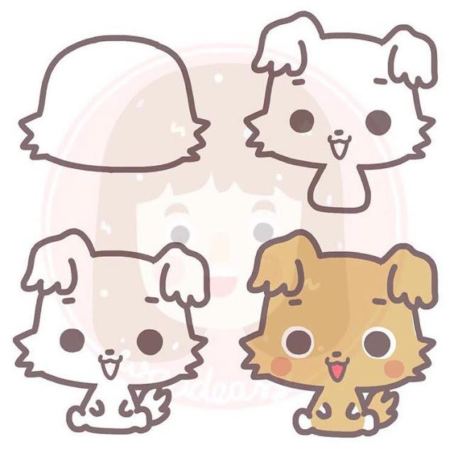 Cara menggambar anak anjing untuk anak-anak