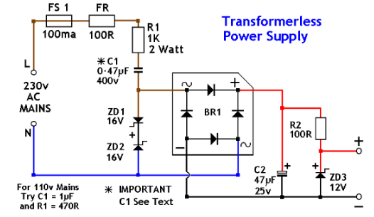 Regulated Power Supply Schematic Diagram