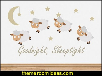 Goodnight Sleep tight Baby Room Wall Sticker Decal