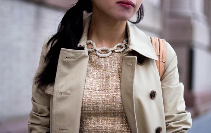 Metallics and Pastels (+ Zara Messenger Bag with Metallic Fastener Review)