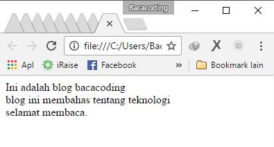 Cara Membuat Baris Baru di HTML