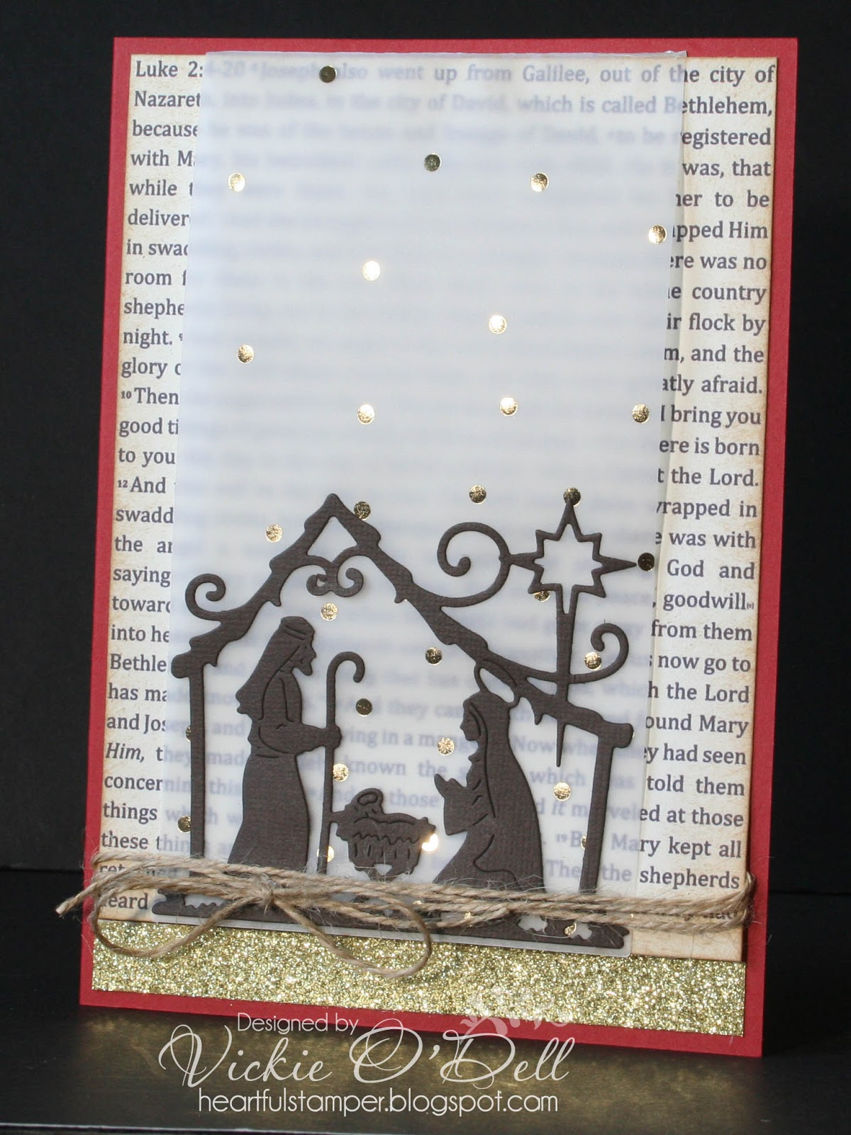 HeARTful Stamper: Christmas Card with Luke 2 and Interactive Vellum