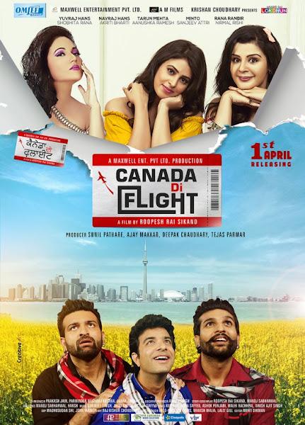 Poster of Canada Di Flight 2016 480p Punjabi DVDRip Full Movie Download