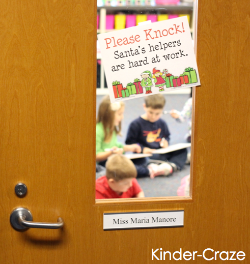 FREE classroom sign to use while students make parent gifts