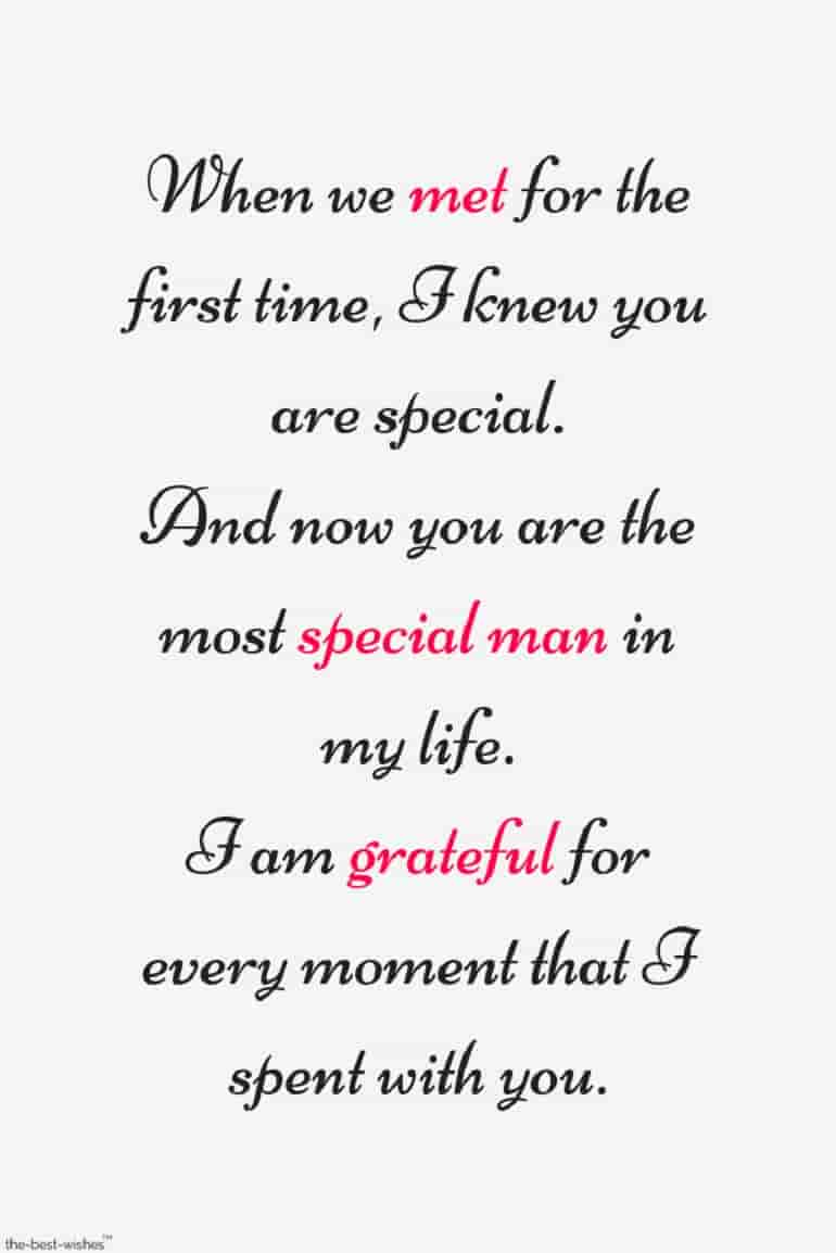 long quote for special man
