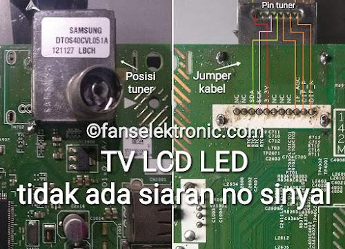 TV Lcd Led Tidak Ada Siaran No Sinyal