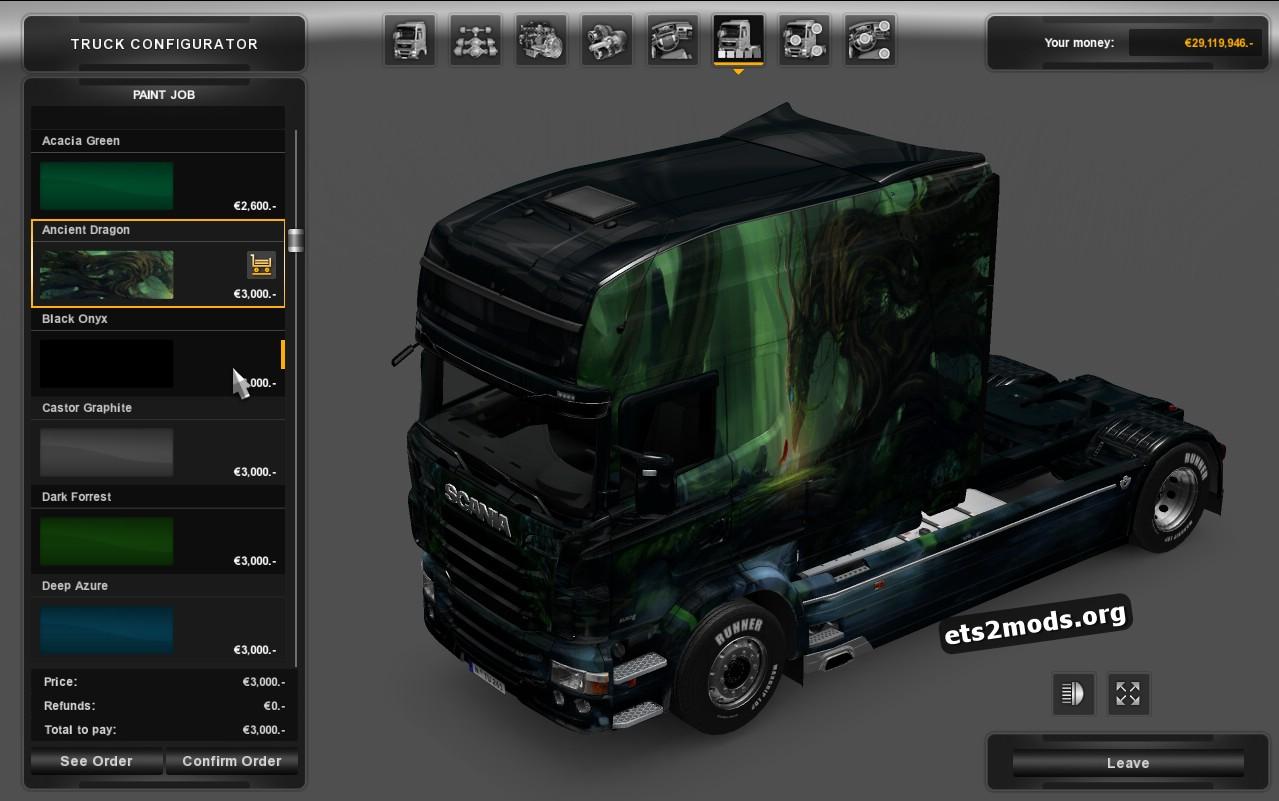 Scania RJL Longline Mini Pack Skin