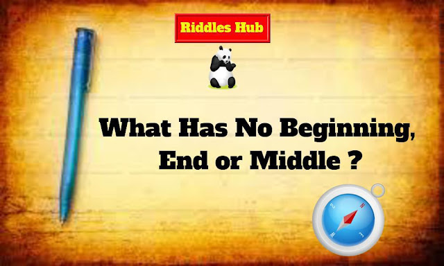 What Has No Beginning End Or Middle
