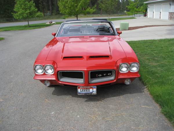 Grand Prix Tires >> 1972 Pontiac GTO Convertible For Sale - Buy American ...