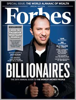 Jan koum pendiri whatsaap menjadi orang kaya baru