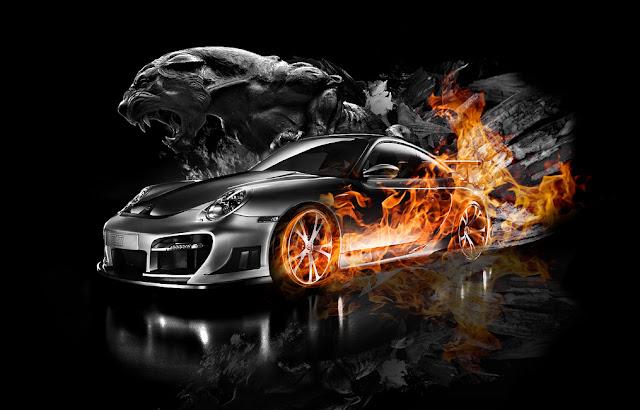 siêu xe rực cháy
