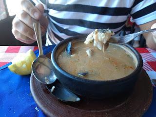 sopa de mariscos chilena