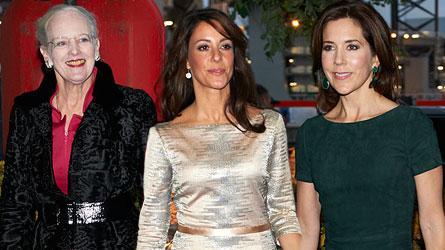 Princess Mary, Princess Marie and Prince Joachim at new James Bond film premiere, Skyfall