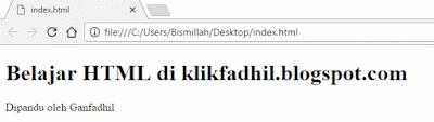 file index.html dibuka di browser
