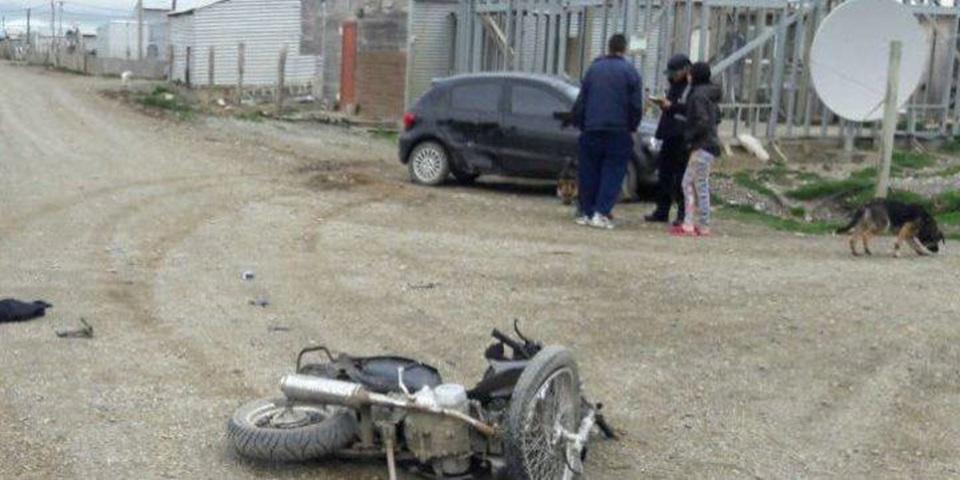 Choque con motociclista fracturado