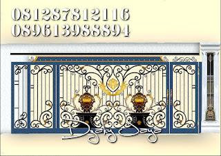 Desain Pintu Gerbang Tempa Klasik Mediterania untuk rumah di Pantai Indah Kapuk