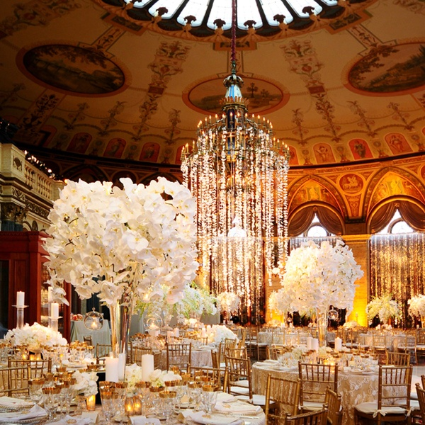 Gold Wedding Table Decorations