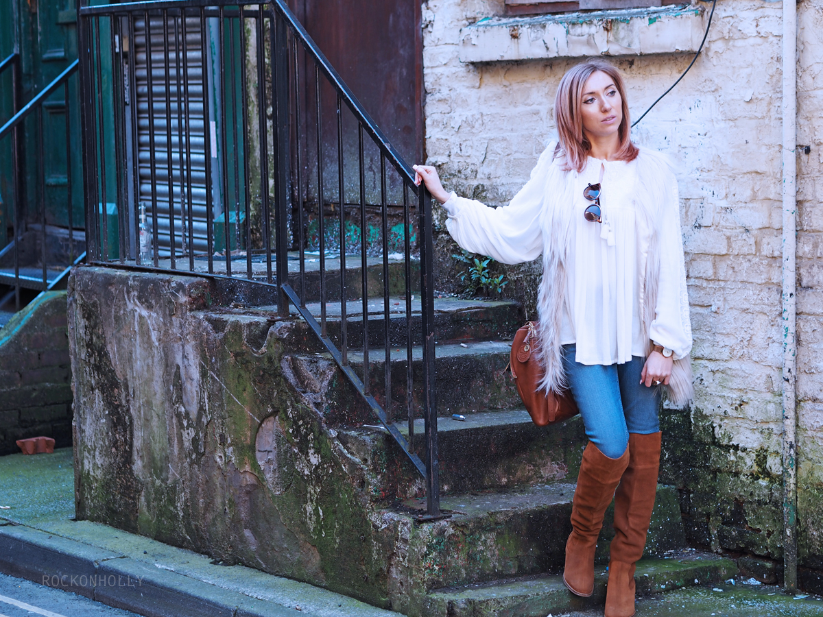 Boho outfit featuring BHS and River Island Tan Boots - Rock On Holly