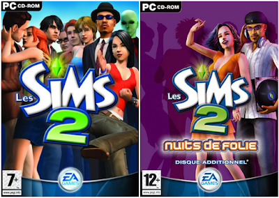 Les sims 2 jeu de base et Nuit de folie