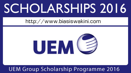 UEM Group Scholarship Programme 2016
