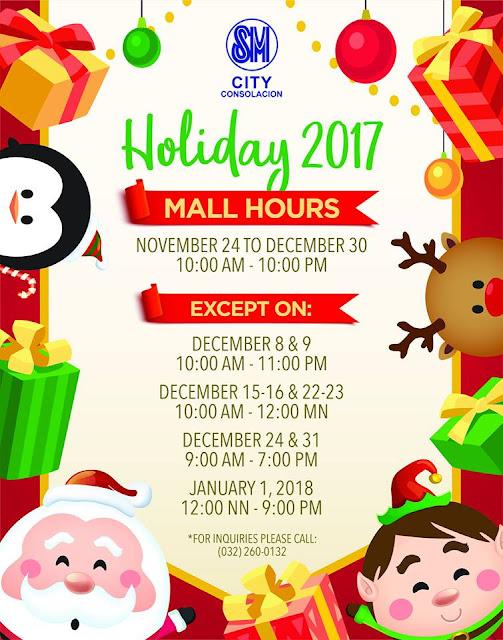 Mall Hours SM City Consolacion Christmas 2017