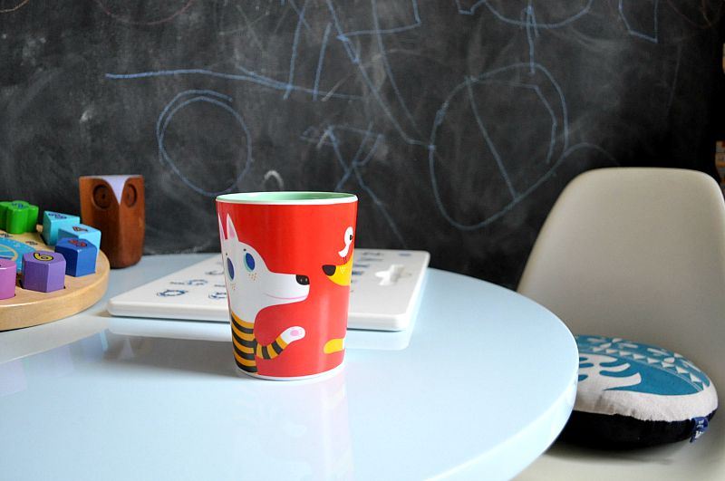 Red Dog & Wolf Cup by Helen Dardik from The Kid Who