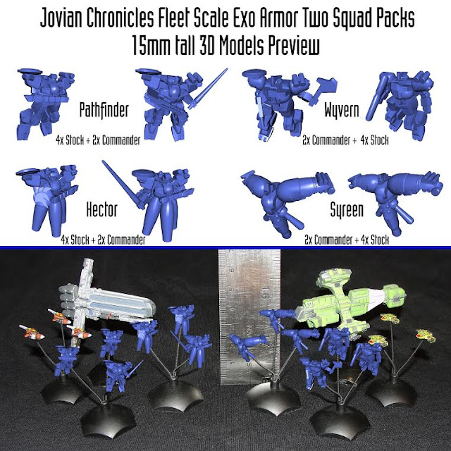 Jovian Chronicles Fleet Scale EXO armors