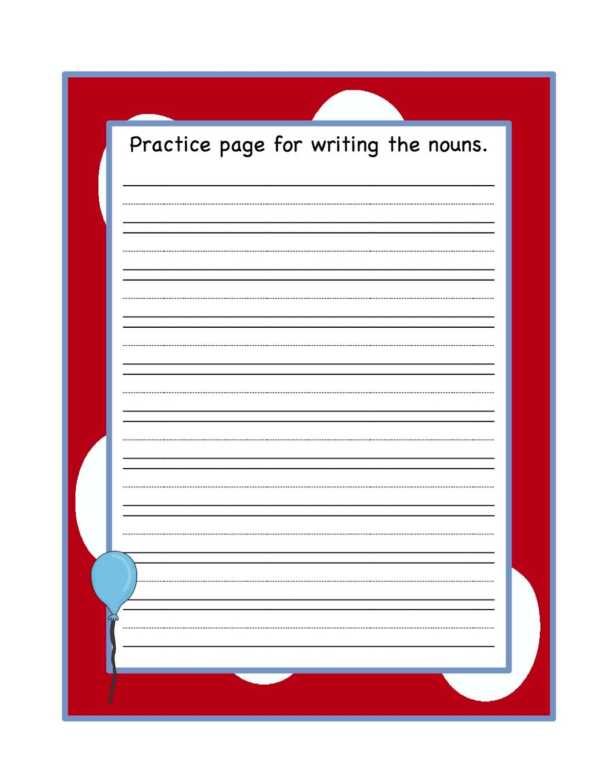 Noun Sort Worksheet Kindergarten