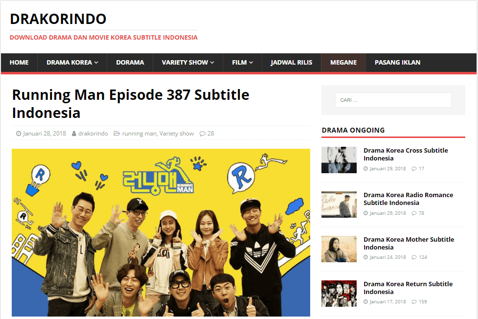 Drakorindo Running Man - More info