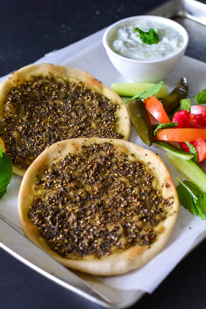 Manoosheh is a popular Middle Eastern bread which is originally from Labanon ZAATAR MANAKEESH RECIPE