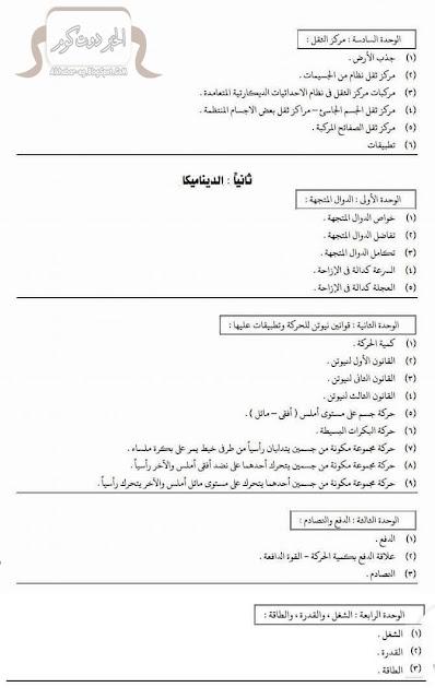 منهج الرياضيات للصف الثالث الثانوي (3ث) - العام الجديد 2016/2017