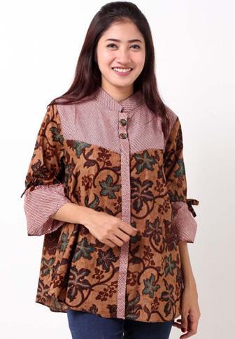 Contoh Baju Blus Batik Masa Kini