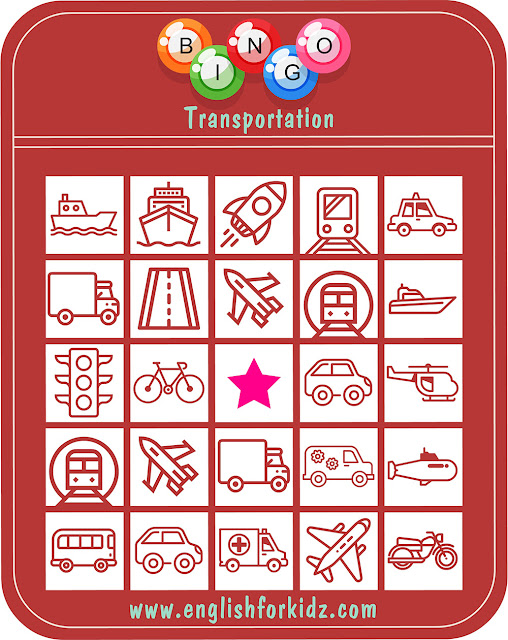 ESL transport bingo