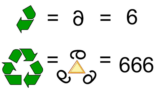 Recycle symbol 666